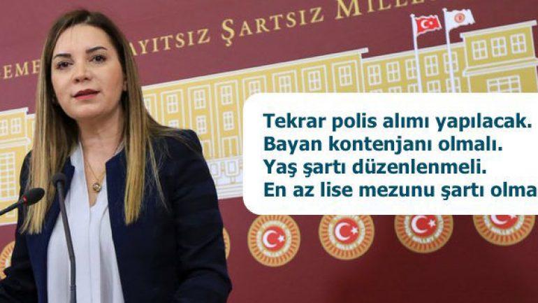 MHP Milletvekili Arzu ERDEM: Tekrar Polis Alımı(PÖH) Yapılacak