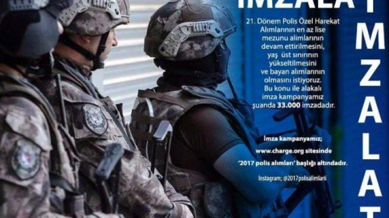 35 Bin Kişi Polis Alımı İçin Taleplerde Bulundu