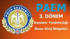 3. Dönem Komiser Yardımcılığı Sınav Giriş Belgeleri Açıklandı