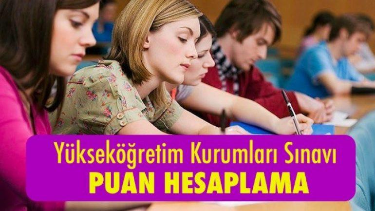 Yükseköğretim Kurumları Sınavı (YKS) Puan Hesaplama
