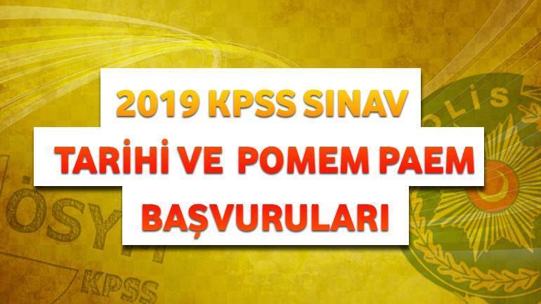 2019 KPSS Sınav Tarihi ve POMEM-PAEM Başvuruları
