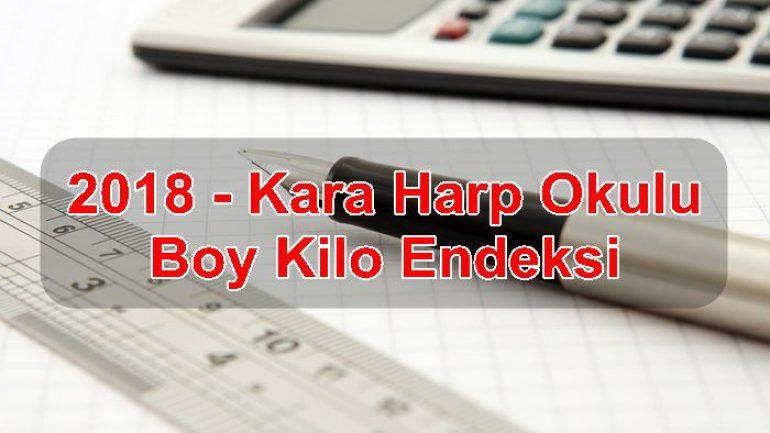 2018 – Kara Harp Okulu Boy Kilo Endeksi
