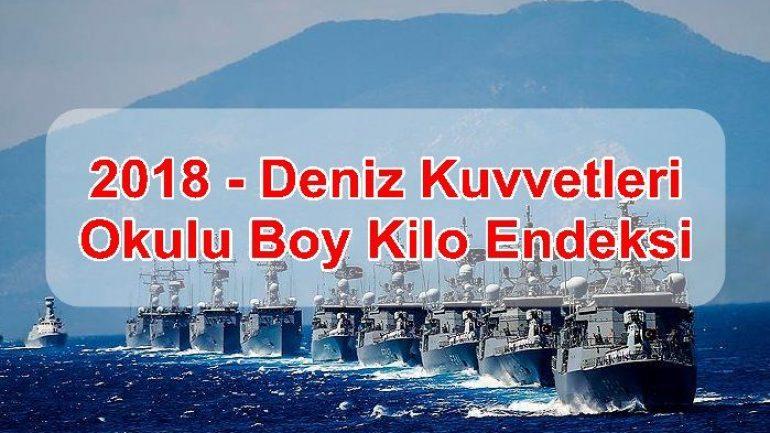 2018 – Deniz Kuvvetleri Okulu Boy Kilo Endeksi