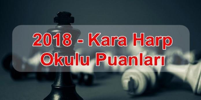 2018 – Kara Harp Okulu Puanları