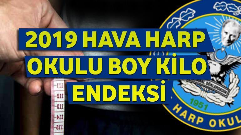 2021 – Hava Harp Okulu Boy Kilo Endeksi