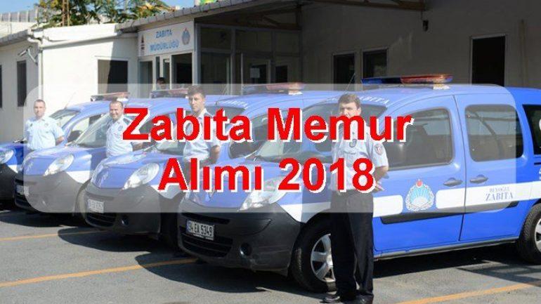 Zabıta Memur Alımı 2018