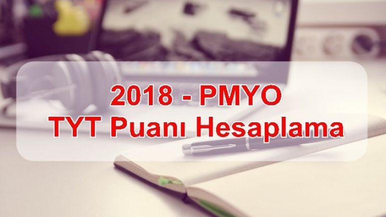2018 – PMYO TYT Puanı Hesaplama