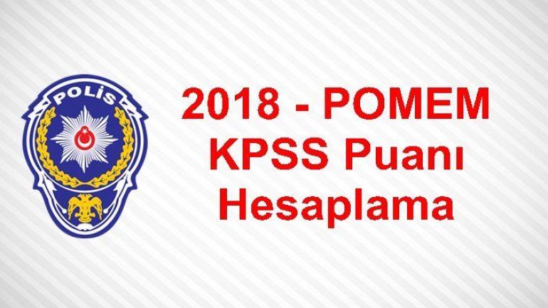 2018 – POMEM KPSS Puanı Hesaplama