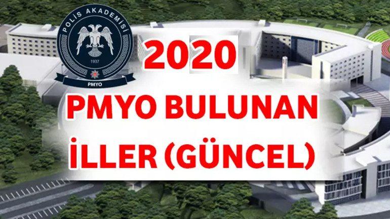 PMYO Bulunan İller Güncel 2020