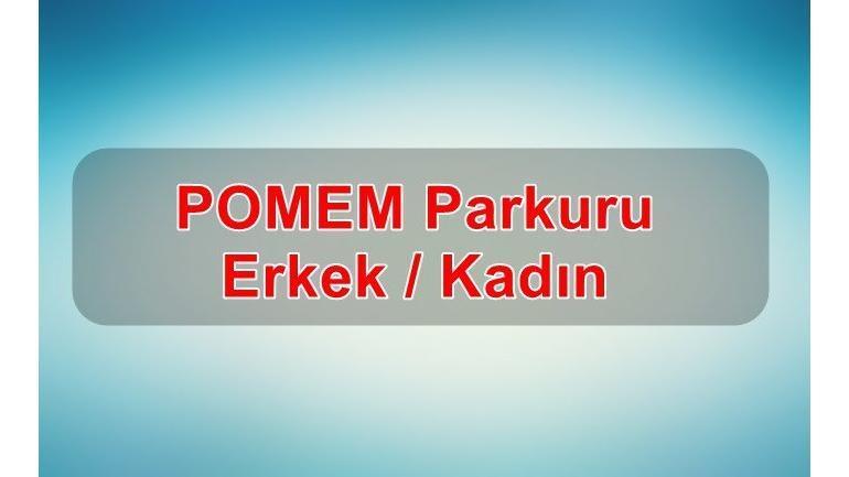 2019 POMEM Parkuru Erkek / Kadın