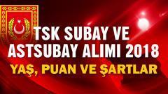 Subay ve Astsubay Alımı 2018