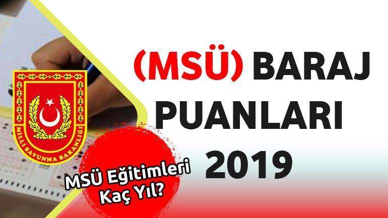 Milli Savunma Üniversitesi (MSÜ) Baraj Puanları 2019