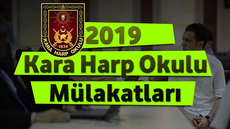 2019 – Kara Harp Okulu Mülakatları