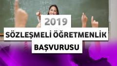 Sözleşmeli Öğretmenlik Başvurusu – 2019