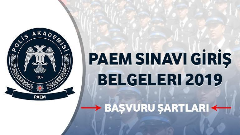 Paem Sınavı Giriş Belgeleri 2019