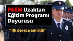 İlk Derece Amirlik Uzaktan Eğitim Programı Açıklaması