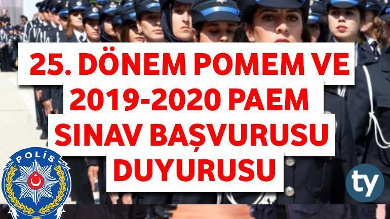 25. Dönem POMEM ve 2019-2020 PAEM Sınav Başvurusu Duyurusu