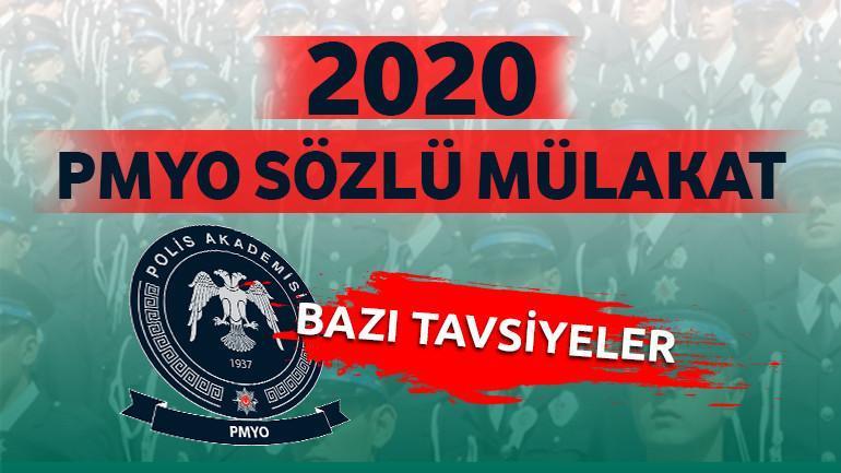 2020 PMYO Sözlü Mülakat ve Bazı Tavsiyeler
