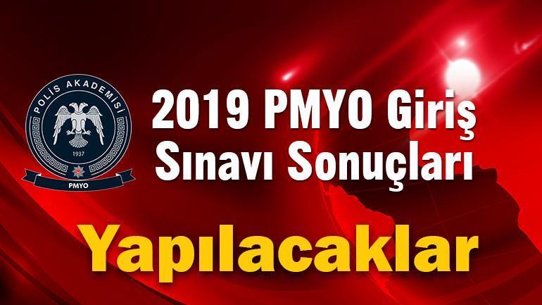 2019 PMYO Giriş Sınavı Sonuçları