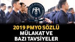 2019 PMYO Sözlü Mülakat ve Bazı Tavsiyeler