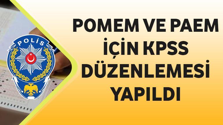 POMEM ve PAEM için KPSS Düzenlemesi Yapıldı