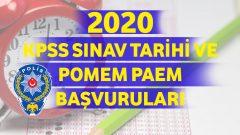 2020 KPSS Sınav Tarihi ve POMEM-PAEM Başvuruları