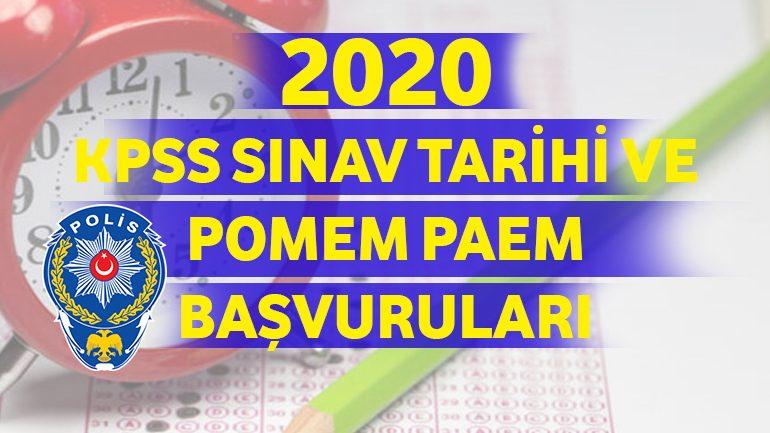 2021 KPSS Sınav Tarihi ve POMEM-PAEM Başvuruları